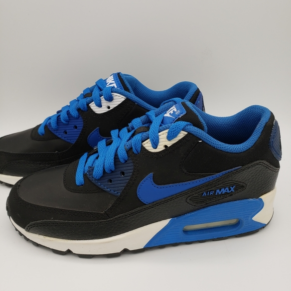 nike air max 90 black blue white